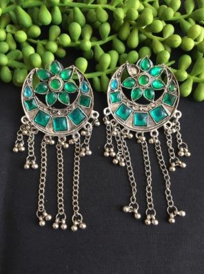 traditional earrings with ghungroo