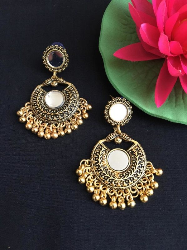 mirror earrings