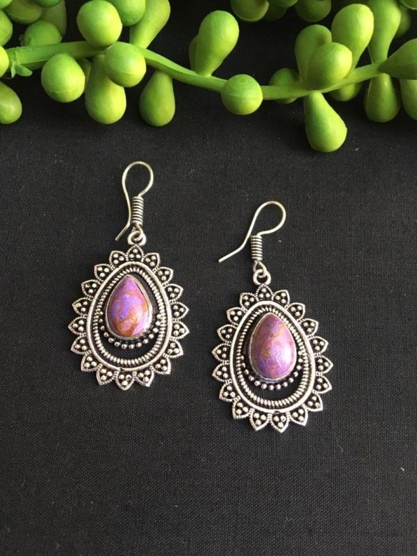 Pink and purple earrings
