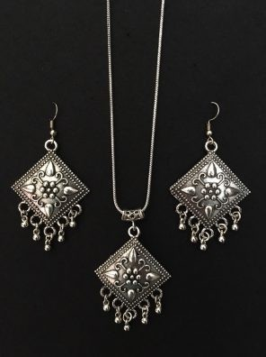 Oxidized pendant set online