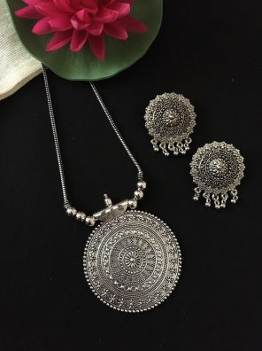 oxidized pendant set for girls