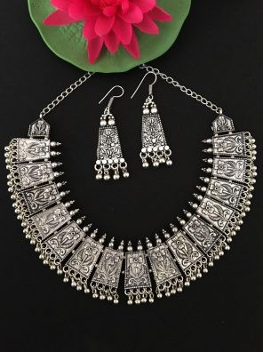 Silver Necklace Set For Women