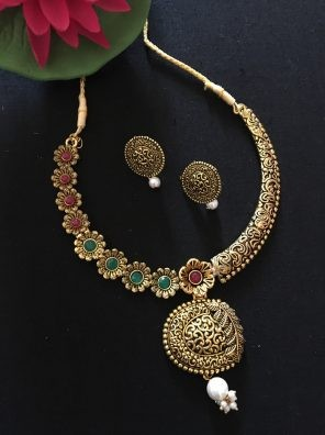 Gold tone necklace for women