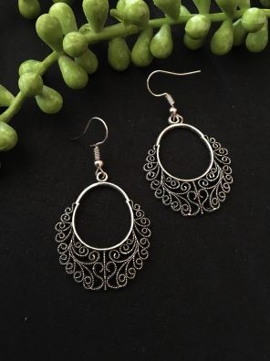 Silver traditional earrings